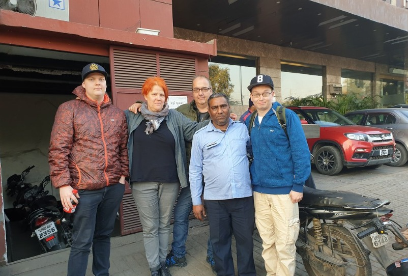 Mr. Erik From Sweden Visited Golden Triangle Tour With Sushant Travels